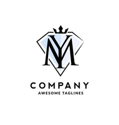 ym crown jewel letter vector image