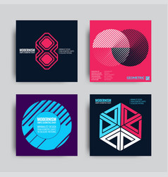 abstract posers art graphic backgrounds vector image vector image