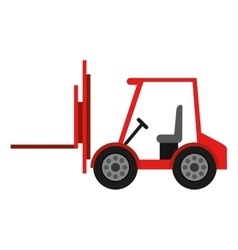 forklift truck isolated icon design vector image