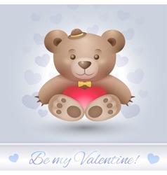 Gentle Teddy bear boy in love vector image vector image