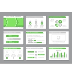 Set of green template for multipurpose vector