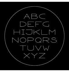 Thin lined modern alphabet vector image
