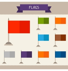 Flags colored templates for your design in flat vector image