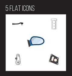 flat parts set of input technology cambelt vector image