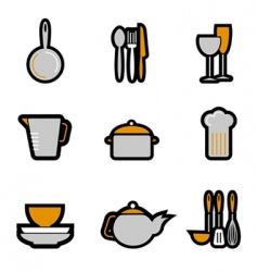 kitchenware object vector image vector image