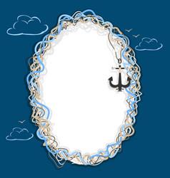 marine frame vector image vector image