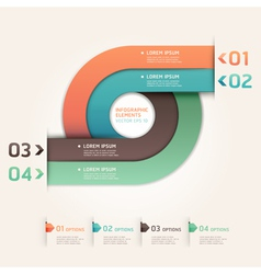 Modern arrow circle origami style options banner vector image vector image