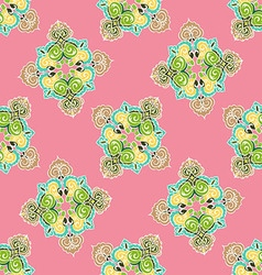 Seamless pattern with ornaments vector