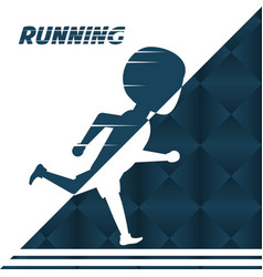 silhouette athlete man running in competition vector image