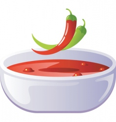 soup hot vector image vector image