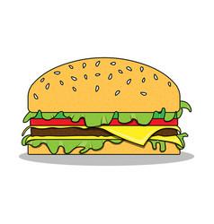 the hamburger vector image