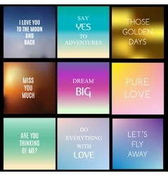 Blurred gradient backgrounds with inspiring vector image vector image