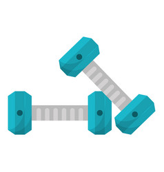 dumbbell weight gym equipment vector image