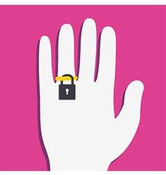 Ring Locker on hand vector image