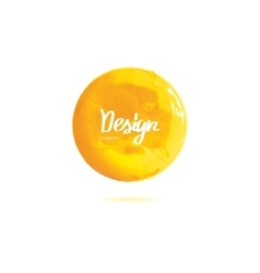 round yellow banner painted with paint vector image