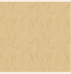 topographic map seamless pattern curved vector image vector image