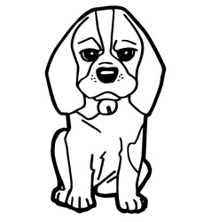 Cartoon Dog Coloring book vector image vector image