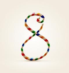Circus wire plastic abc vector image
