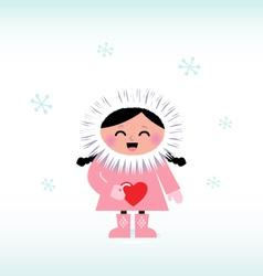 cute eskimo vector image vector image