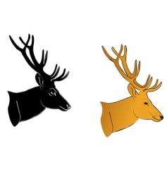deer profile vector image