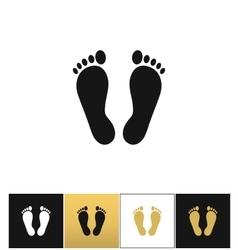 Footprints or human foot prints icon vector image vector image