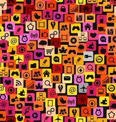 icons background vector image vector image