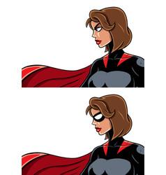 superheroine portrait vector image vector image