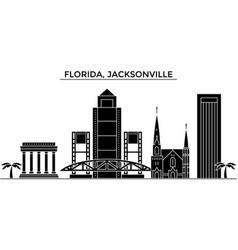 usa florida jacksonville architecture vector image