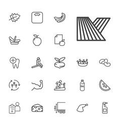22 healthy icons vector
