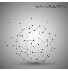 3D abstract technology Geometric round vector