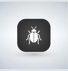 a square applicatio button with a bug vector image