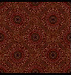 Abstract brown geometrical oriental mandala vector
