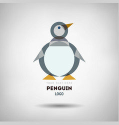 abstract geometrical style penguin logo vector image