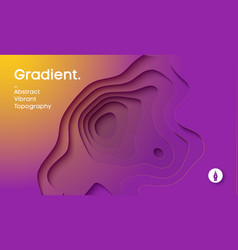 Abstract gradient background paper cut 3d vector