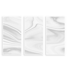Abstract liquid marble effect empty white banners vector