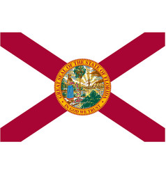 Accurate correct florida fl state flag vector