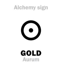 Alchemy gold aurum vector