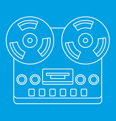 Analog stereo open reel tape deck recorder icon vector
