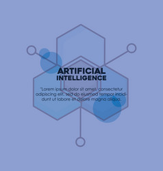 Artifical intelligence design vector
