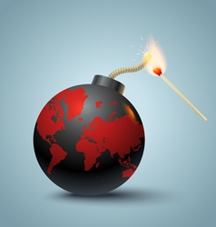Bomb global and mutch vector image