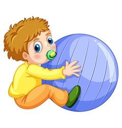 Boy and ball vector