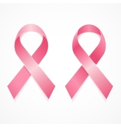 Breast Cancer Ribbon Set vector image