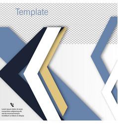 Brochure template design with arrows vector