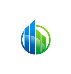 Business finance building architecture logo vector