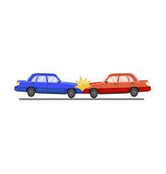 car accident auto crash and damage automobile vector image