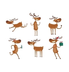 Cartoon deer character vector image