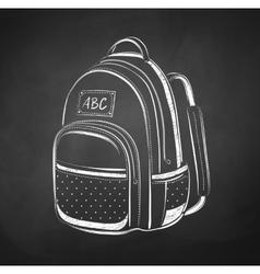 chalkboard drawing school bag vector image