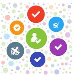 Choose icons vector