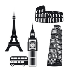 Cities symbols vector image
