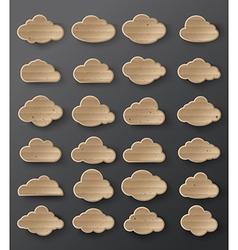 clouds cardboard vector image